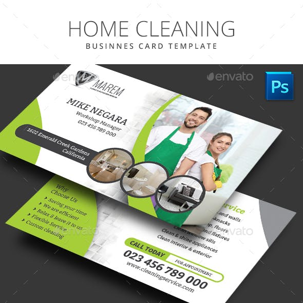 Home Cleaning Business Card