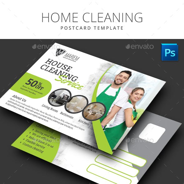 Home Cleaning Postcard
