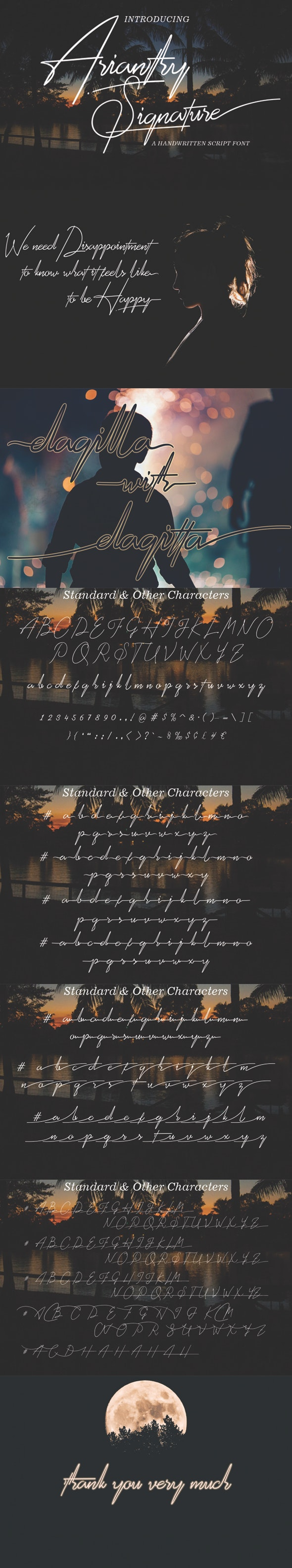 Arianthy - Hand-writing Script