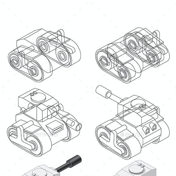 Set of Combat Vehicles
