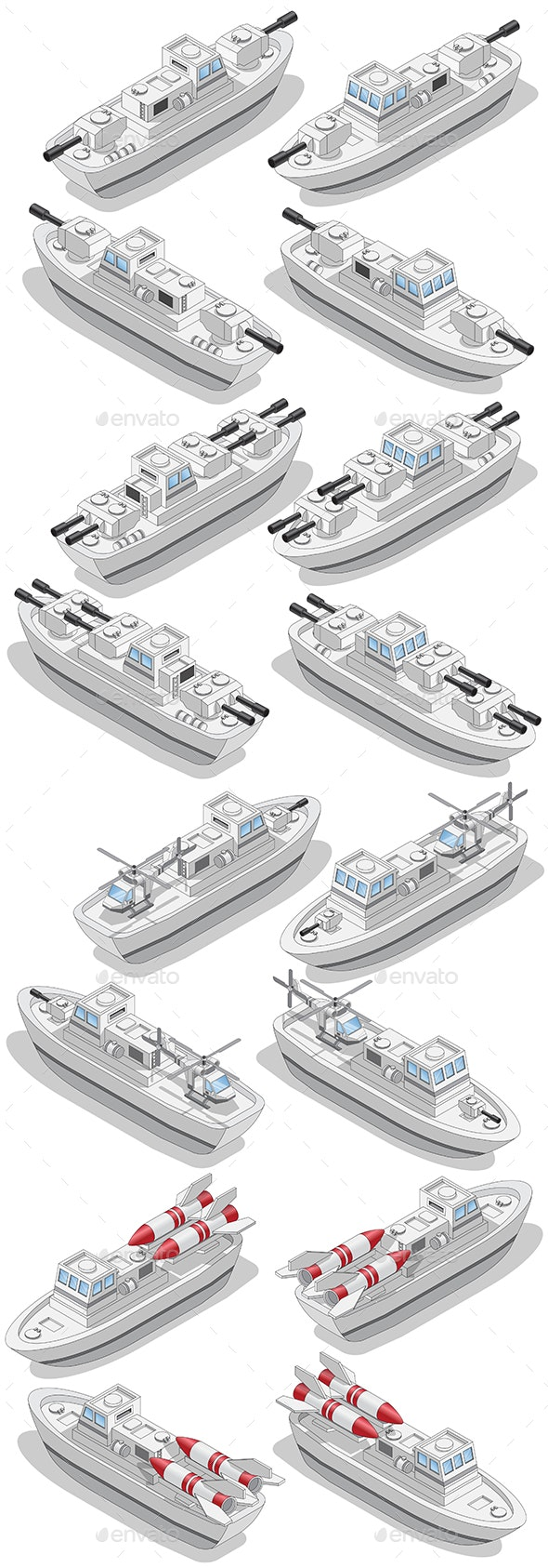Set of Warships - Miscellaneous Game Assets