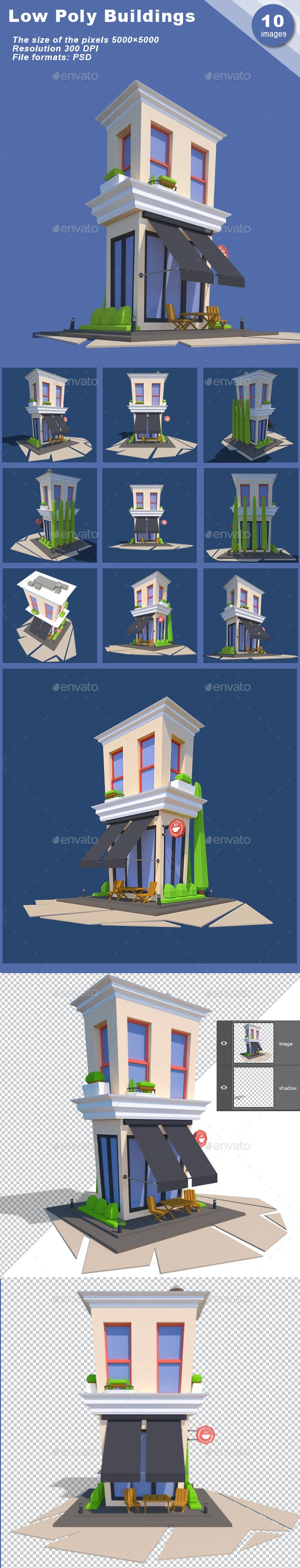 Low Poly Cafe - Architecture 3D Renders