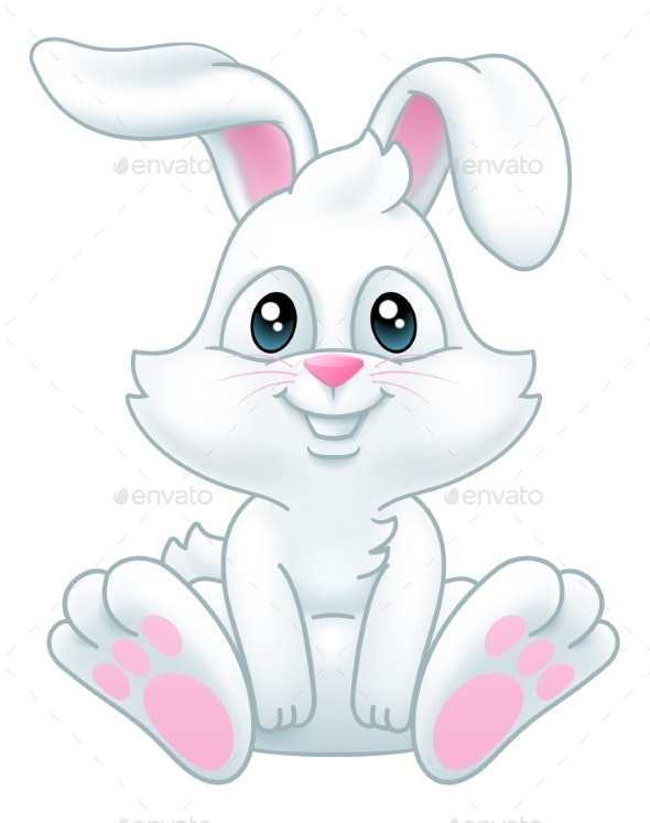 Easter Bunny Rabbit Cartoon By Krisdog Graphicriver