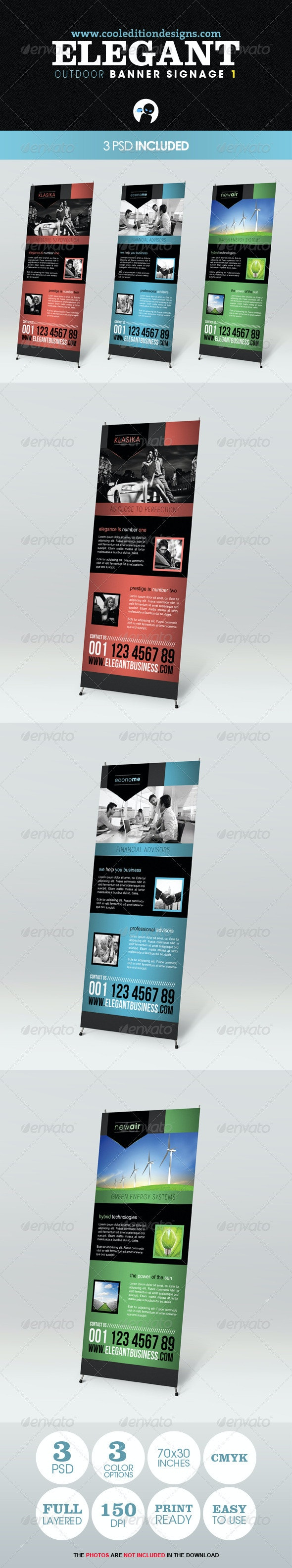 Elegant Outdoor Banner Signage 1 - Signage Print Templates
