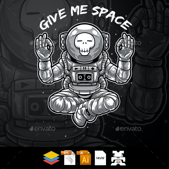 Give Me Space - Astronaut T-shirt Design