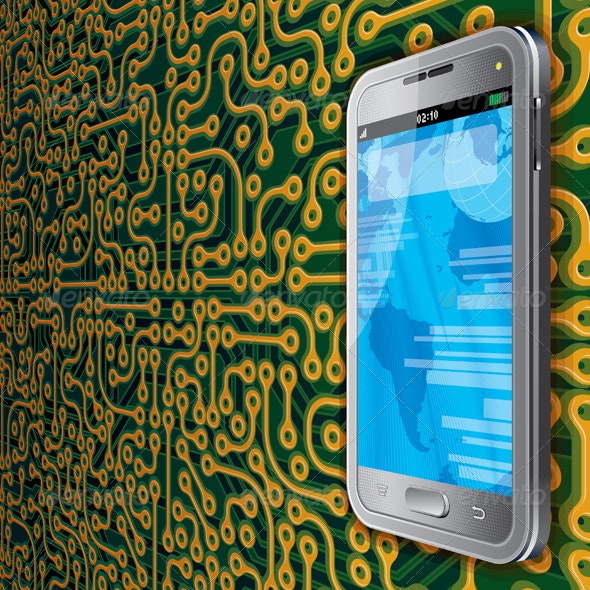 Touchscreen Phone Background - Communications Technology