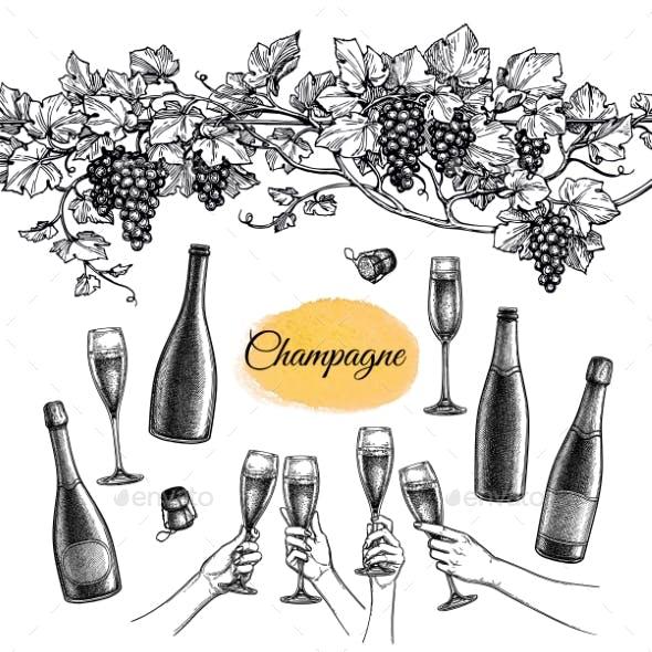 Champagne Set