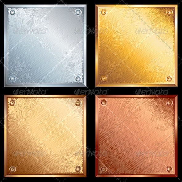 Metal Plates - Backgrounds Decorative
