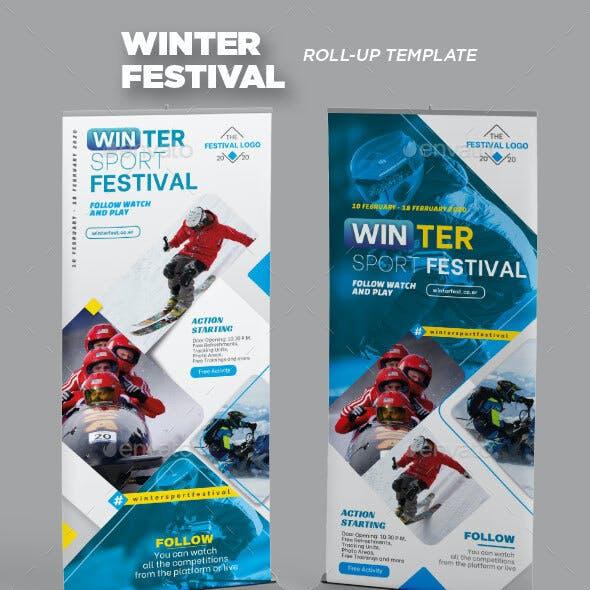 Winter Sport Festival Roll-up