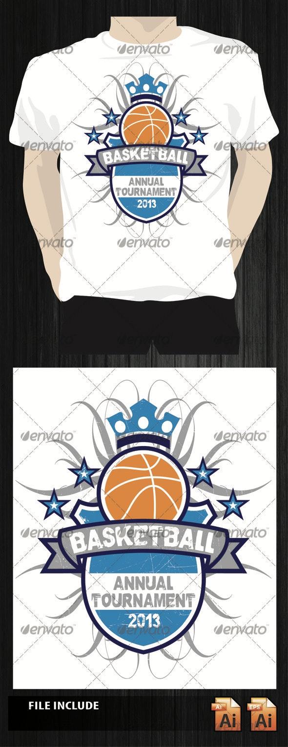 Basketball T-Shirt - Sports & Teams T-Shirts