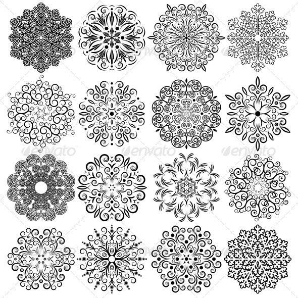 Design Snoflakke Ornament - Decorative Symbols Decorative