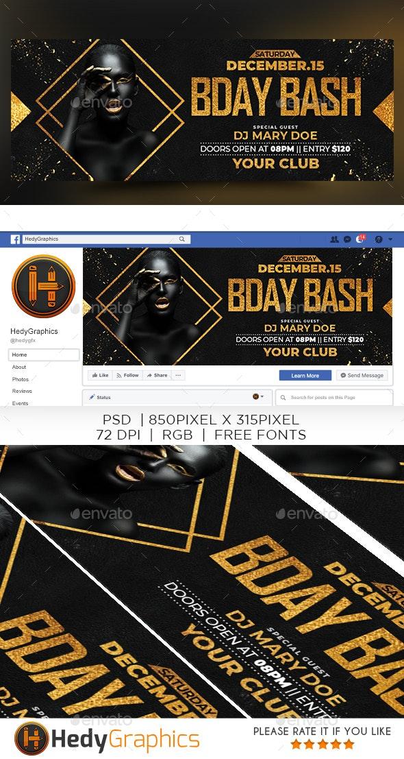 Birthday Bash Timeline - Facebook Timeline Covers Social Media