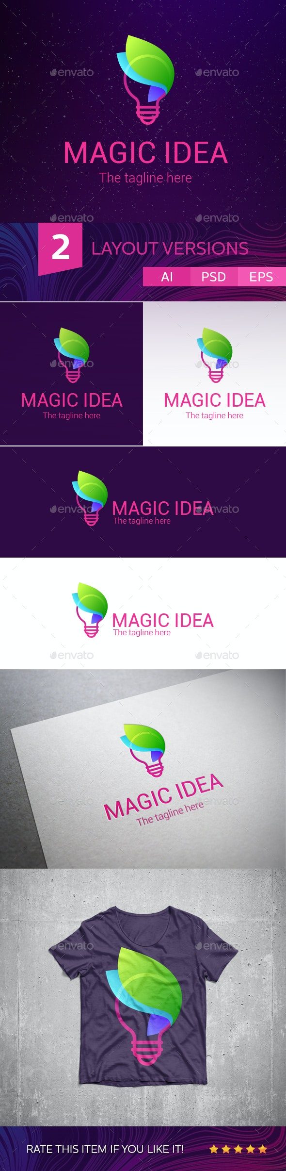 Magic Idea Logo - Symbols Logo Templates