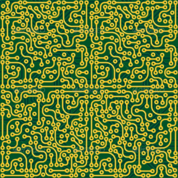 Abstract Circuit Board - Backgrounds Decorative