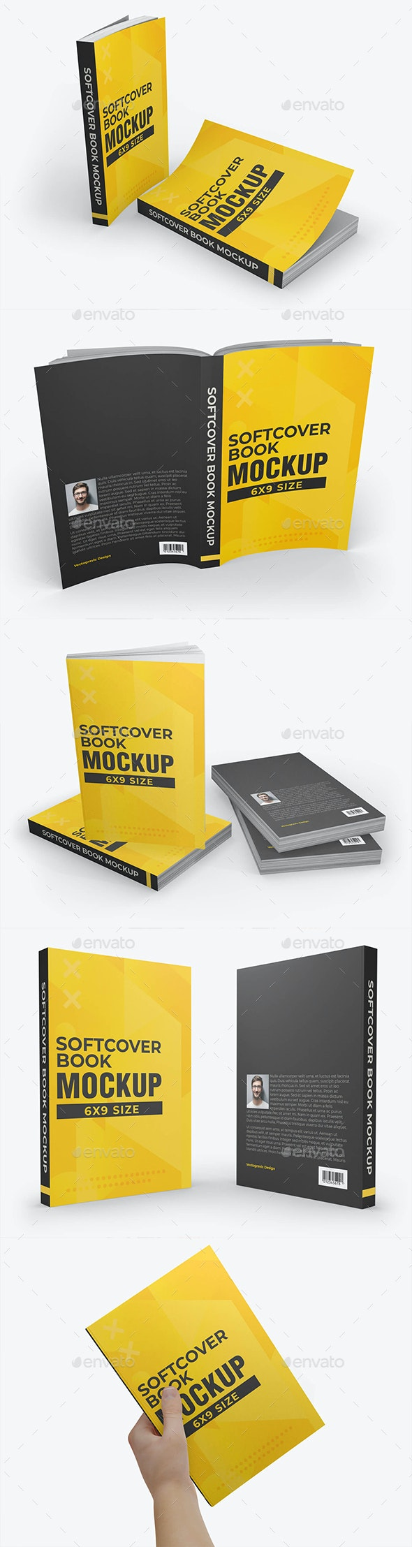 Softcover Book Mockups - Books Print