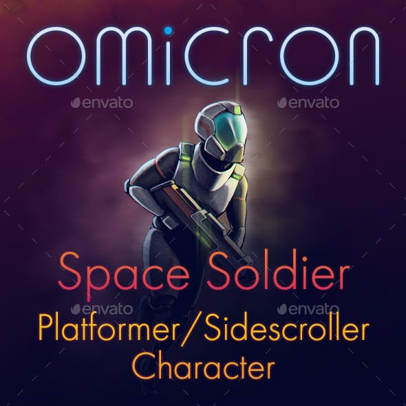 Omicron - Space Soldier (Game Character)