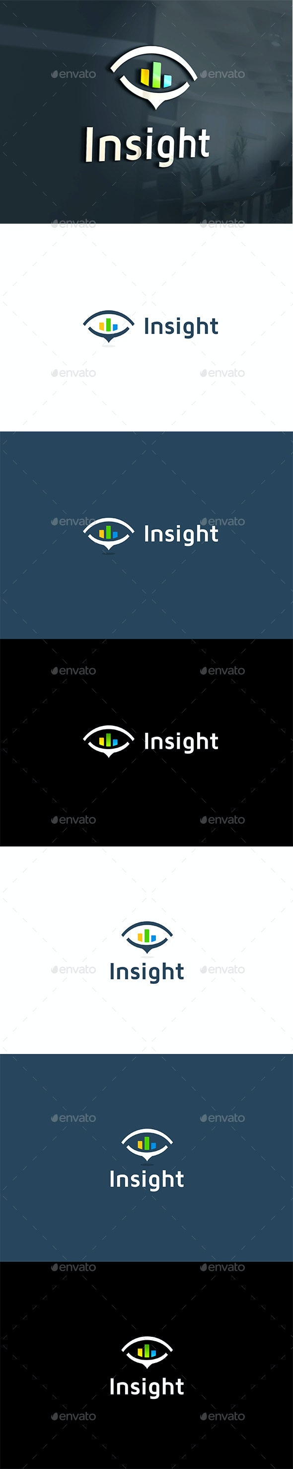 Insight Statistics in Eye - Company Logo Templates