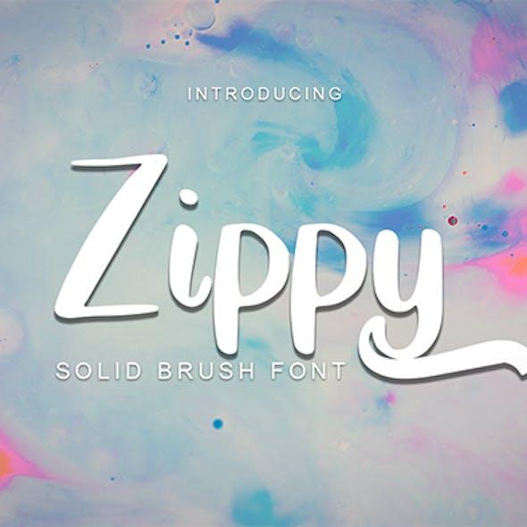 Zippy - Solid Brush Font