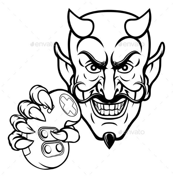 Devil Esports Sports Gamer Mascot - People Characters