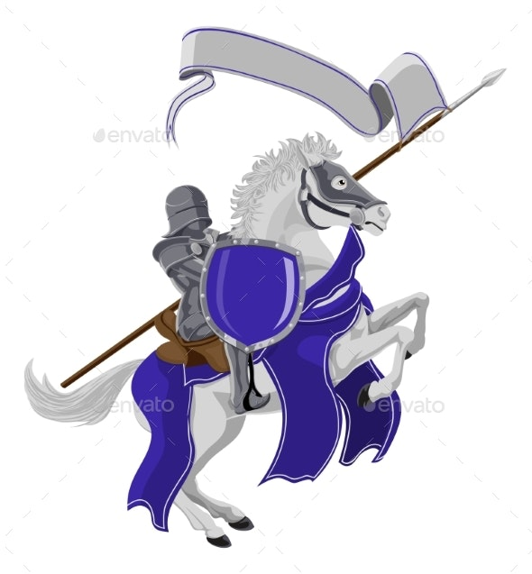 Medieval Joust Knight on Horse - People Characters