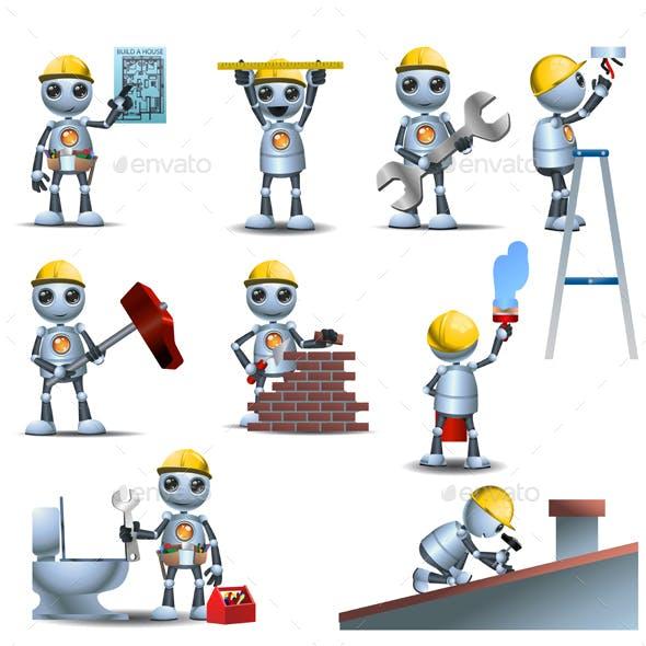 Robot Handy Man Working