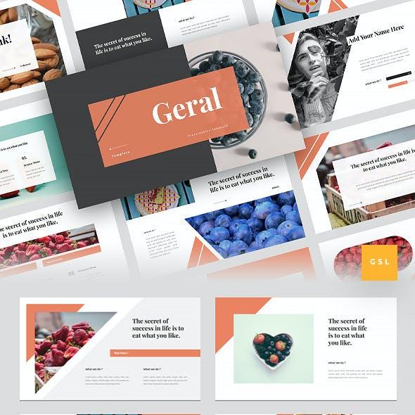 Gerai - Food Google Slides Template