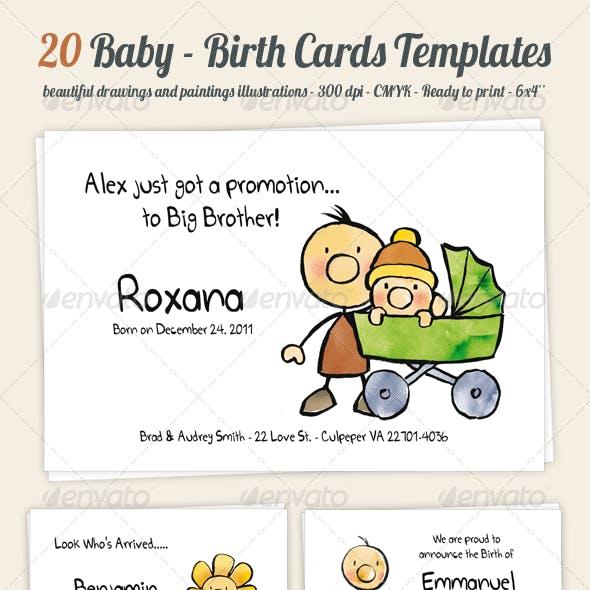 Birth/Baby Announcement Card