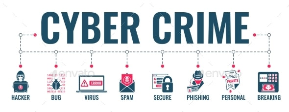 Cyber Crime Banner - Computers Technology