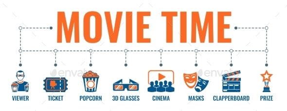 Cinema and Movie Banner - Miscellaneous Vectors