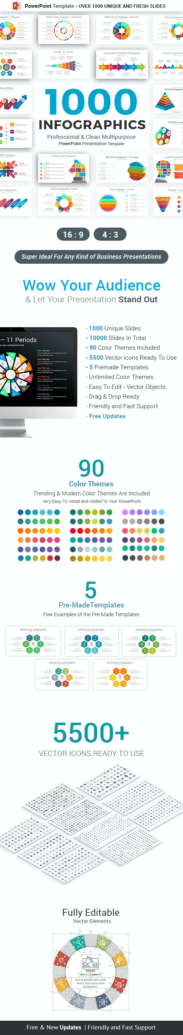 Infographics Pack PowerPoint Template - Business PowerPoint Templates