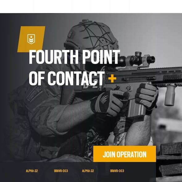 Foxtrot Military Portrait PowerPoint Presentation Template