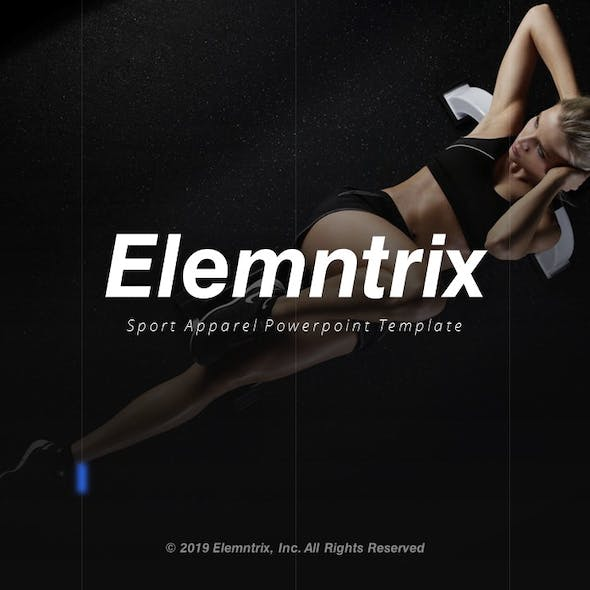 Elemntrix Sport Apparel Powerpoint Template Fully Animated
