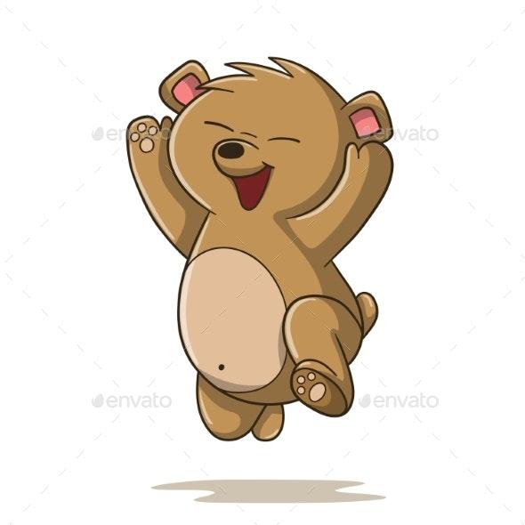 Happy Cartoon Bear - Animals Characters