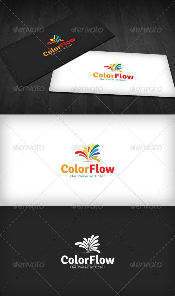 Color Flow Logo - Vector Abstract