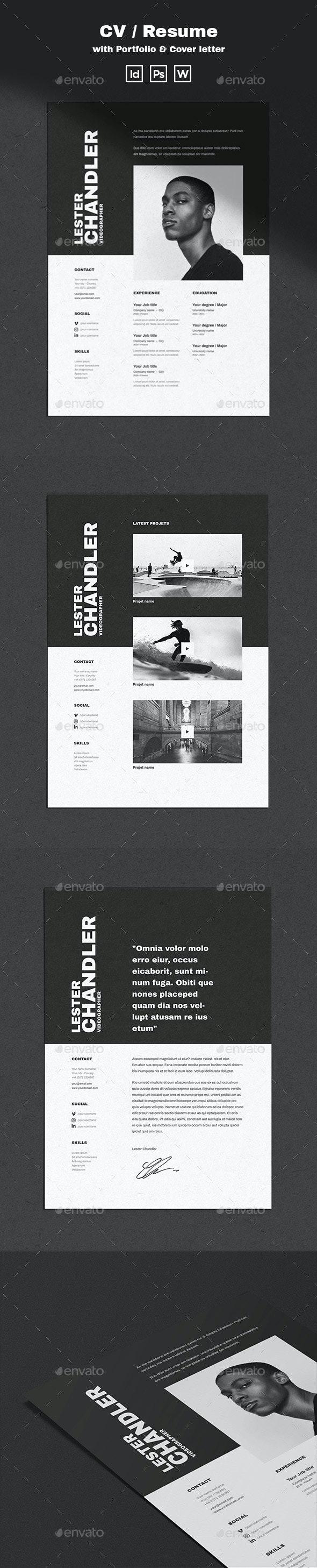 Lester | CV / Resume Template - Resumes Stationery