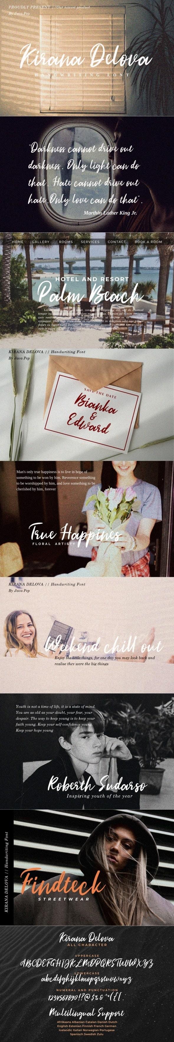 Kirana Delova - Hand-writing Script
