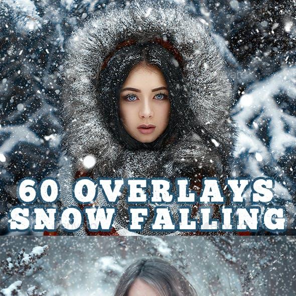 60 Snow effect overlays