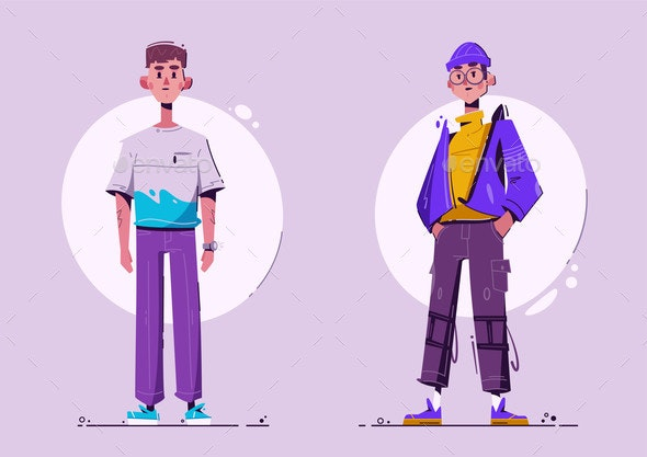 Fashionable Guy - People Characters