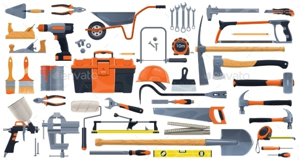Construction DIY and Repair Tools - Man-made Objects Objects