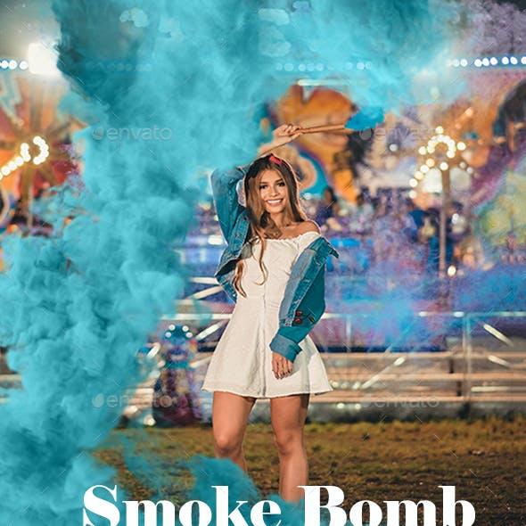 147 Smoke Bomb Overlays, Colorful Smoke