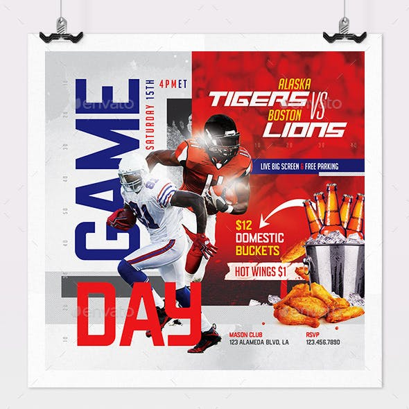 Game Day Football Flyer