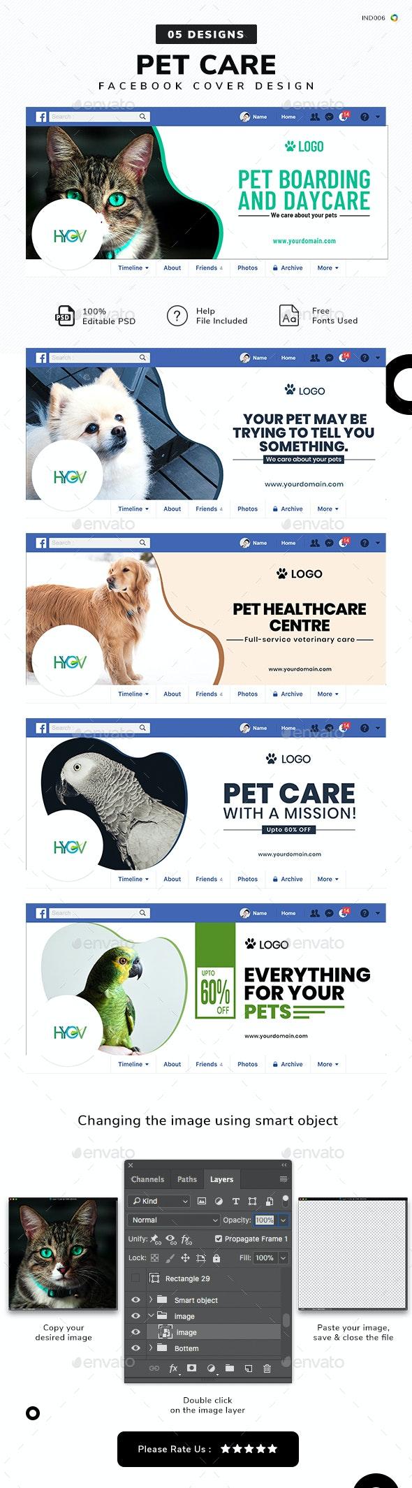 Pet Care Facebook Cover Templates - 05 Designs - Facebook Timeline Covers Social Media