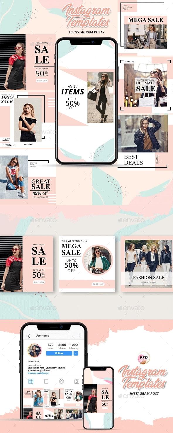 10 Fashion Shopping Instagram Templates - Miscellaneous Social Media