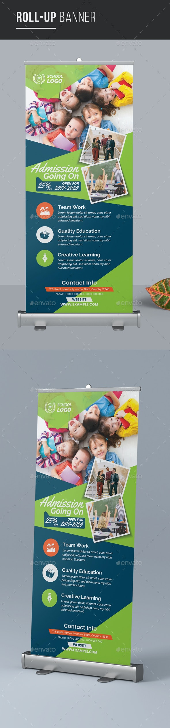 Education Roll-up Banner - Signage Print Templates
