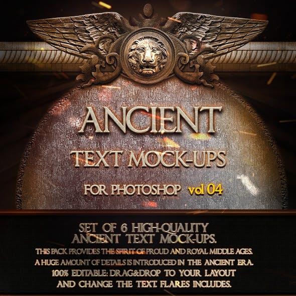 6 Ancient Text Mock-Ups  vol. 04