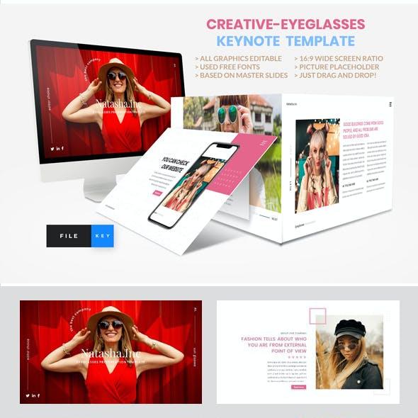 Creative-Eyeglasses Keynote Template
