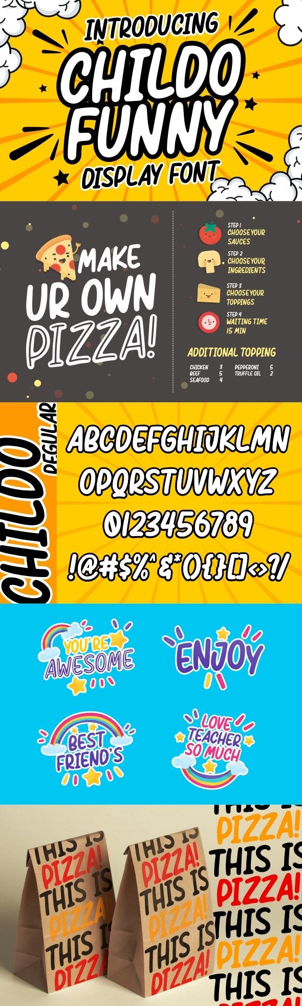 Childo - Funny Font - Comic Decorative