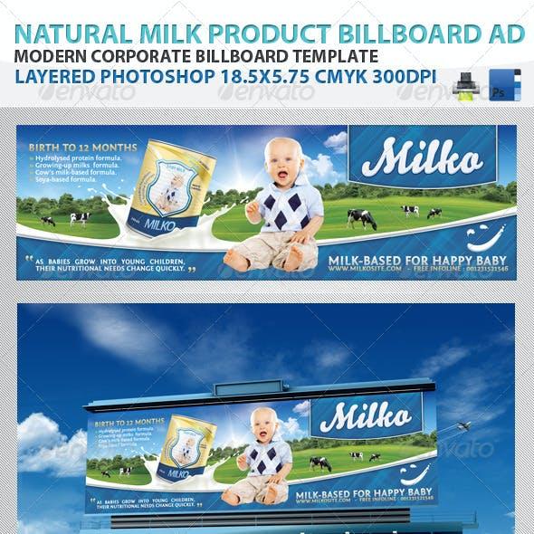 Natural Milk Product Billboard