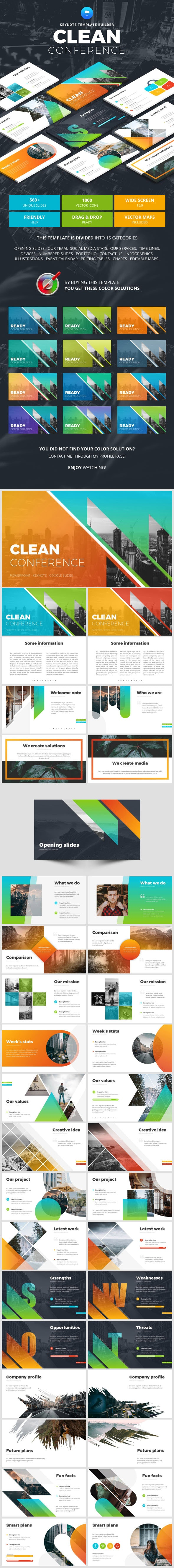 Clean Conference Keynote - Business Keynote Templates