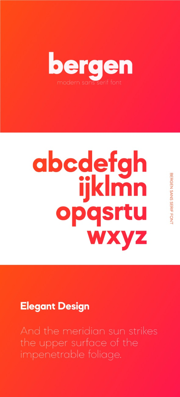 Bergen Sans Font
